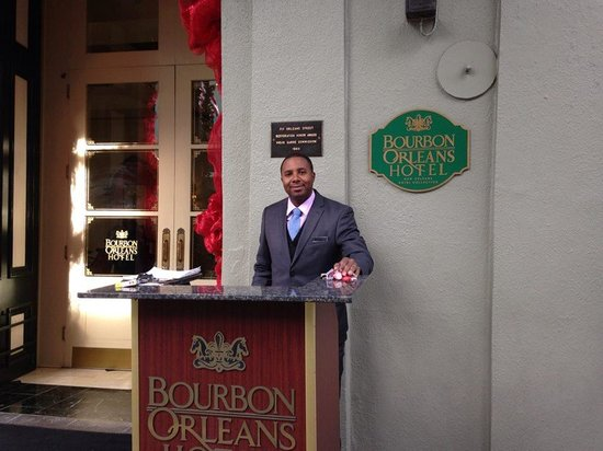 Bourbon Orleans Hotel : Friendly greeting!