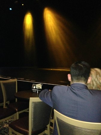 David Copperfield : The first row of tables are round.  We sat in the next row with the long tables.  Great seats!