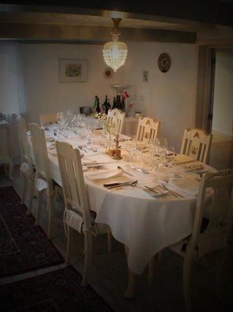 Strandgaarden Badehotel: Private dinning