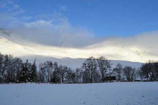 Dalmunzie Castle: after storm