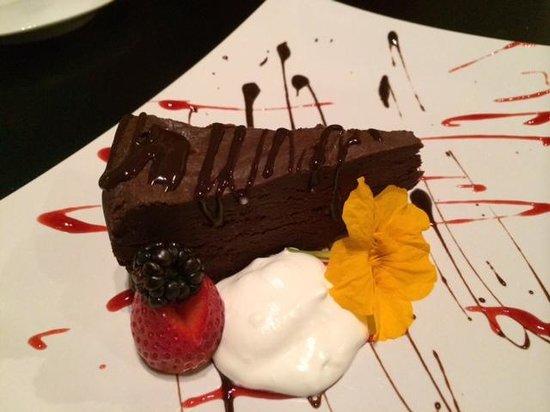 Malia Mediterranean Bistro : Chocolate Flourless Torte