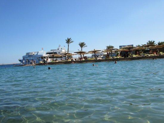 Hurghada SeaGull Beach Resort : пляж