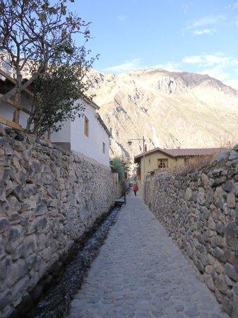 Apu Lodge : Calle de acceso al hotel