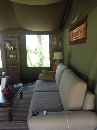 Enkewa Camp : la lounge del Bush Camp