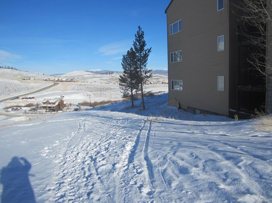 The Mountainside at Silver Creek : This is where you have to walk to get to the condo.