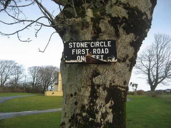 Bocan Stone Circle: Only sign