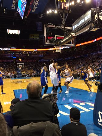 Chesapeake Energy Arena : Seriously great seats!