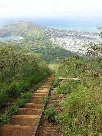Koko Crater Trail: View on the way down