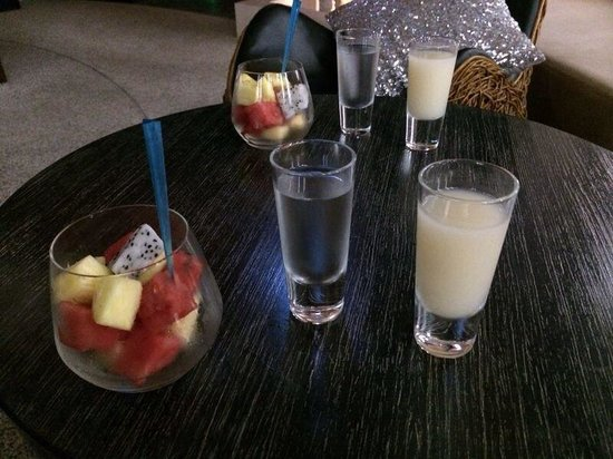 W Koh Samui : after spa drinks and fruit