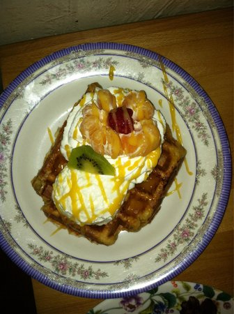 The Waffle Window : The Winter Blossom Waffle was delicious!