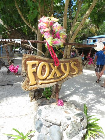 Foxy's: sign in front