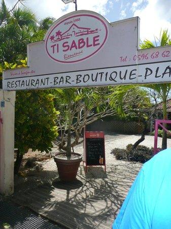 Ti Sable: l'entrée