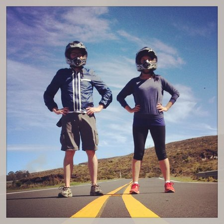 Maui Easy Riders : On the road, literally. Photo by Billy.