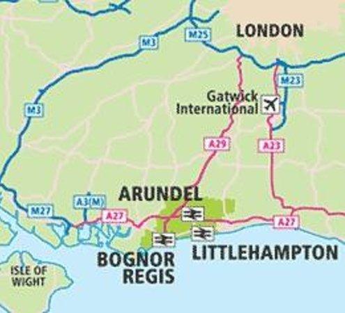 LittlehamptonArundel Map Picture of YHA Littlehampton