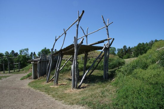 Fort Abraham Lincoln State Park: Rack for drying meat