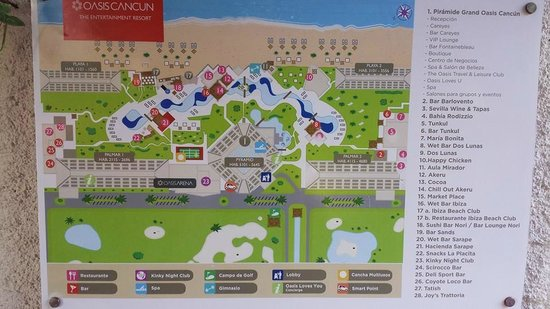 grand oasis cancun resort map Map Picture Of Grand Oasis Cancun Tripadvisor grand oasis cancun resort map