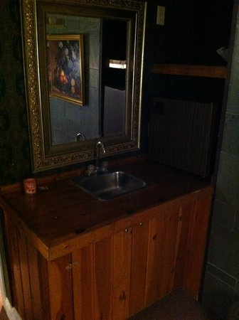 Cornell Inn Lenox : The kitchenette in 'Frances' with a sink and refridgerator.