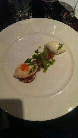 The Bunk Inn: salmon mousse salad. gorgeous!