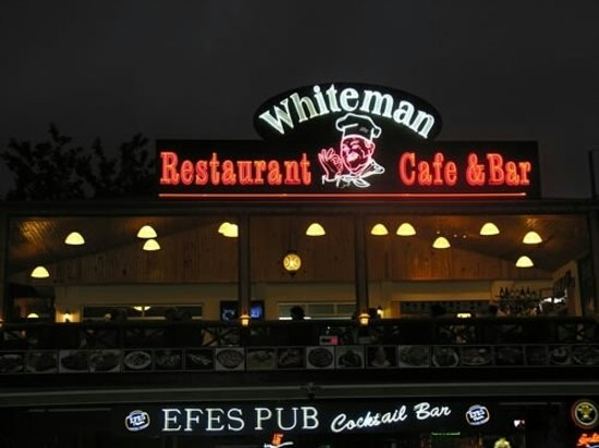 The White Man Restaurant: Turkish and English cuisines