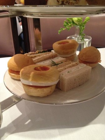 The Wellesley Afternoon Tea: Sandwiches and rolls