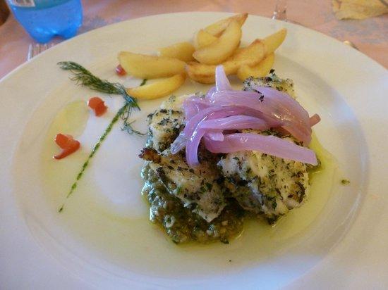 Airone Hotel: Uno dei favolosi piatti del ristorante