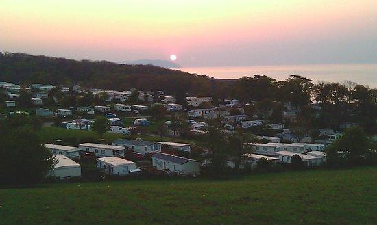 Home Farm Holiday Centre : Sunset towards Minehead