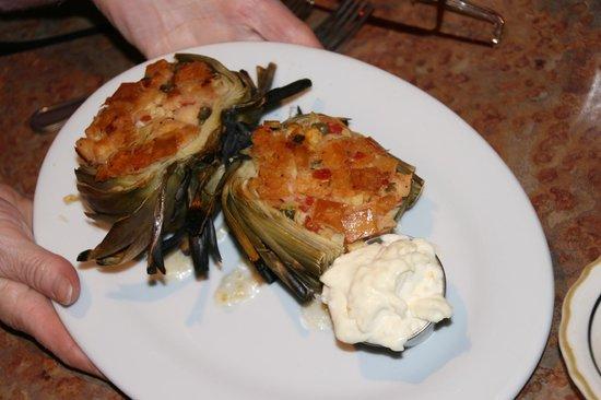 ZacJack Bistro: Baked stuffed artichoke