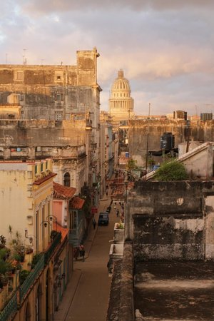 Hostal Chez Nous La Habana Cuba: Vue de notre chambre sur le Capitole