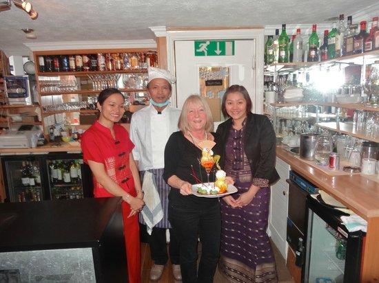 Lemongrass: The lovely staff & me!