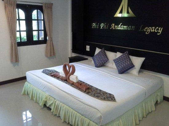 Phi Phi Andaman Legacy: la chambre à notre arrivée