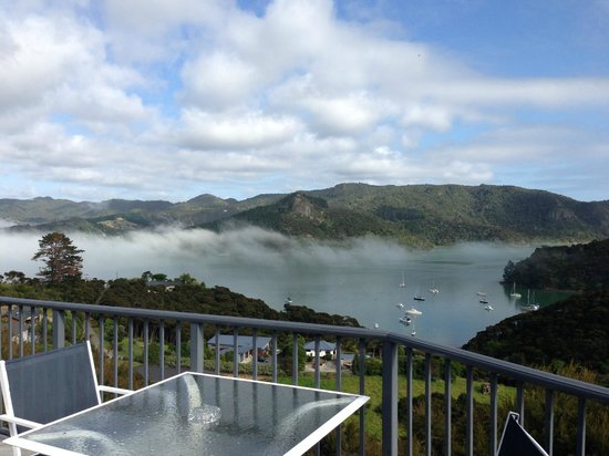 Waimanu Lodge Whangaroa Northland: View from the pool deck.