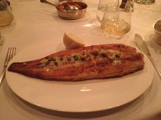 Corrigan's Mayfair : bone-in Dover sole