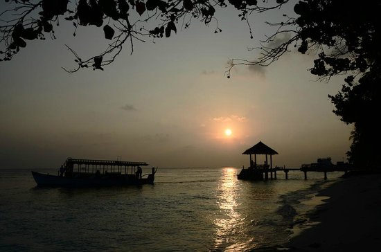 Vilamendhoo Island Resort & Spa : Départ