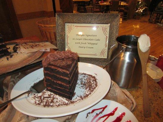 Dobyns Dining Room: Amazing Chocolate cake