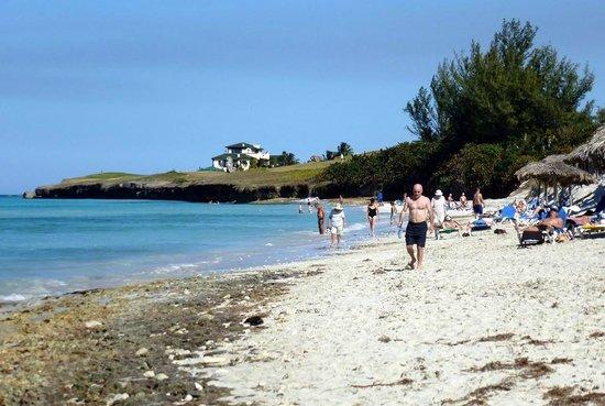Breezes Bella Costa: Beach Right (some rock)