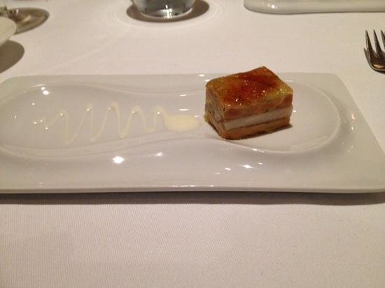 Restaurante Lasarte: mille feuille au foie gras