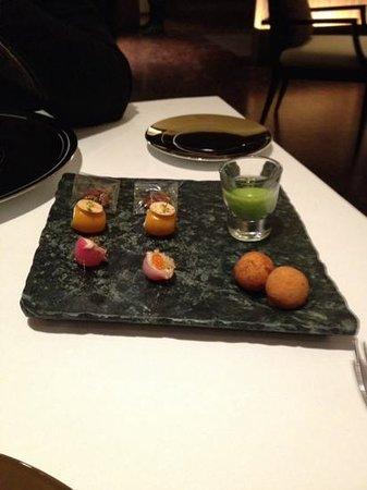 Restaurante Lasarte: mise en bouche qui ouvre l'appetit