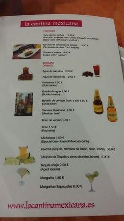 La Cantina Mexicana: Cervezas de la casa