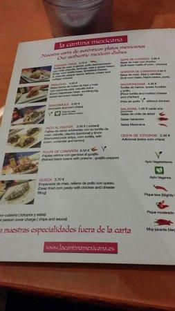La Cantina Mexicana: Buenos precios y excelente comida