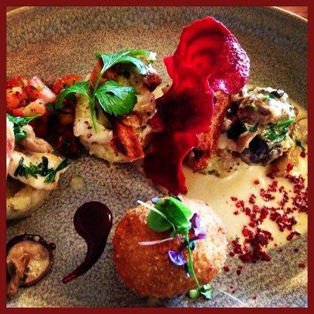 Sage Restaurant: Monkfish & Crispy egg
