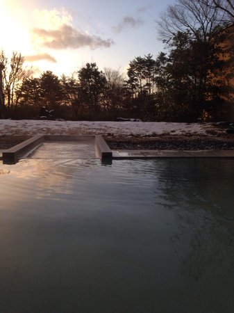 Soranoniwa Resort: 朝の露天風呂。