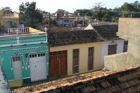 Hostal Casa di  Elio Ramos: Vue de la 2ème terrasse au dessus