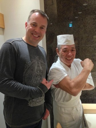 Sushi Bar Yasuda: strong man!