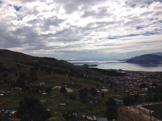 Eco Inn Puno Titicaca Lake: View of the bay where the Eco-Inn is situated
