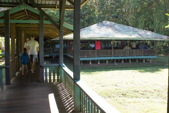 Sirena Ranger Station: Sirena Station - platform in background