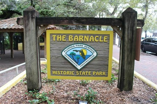Barnacle State Historic Site: entrada do parque