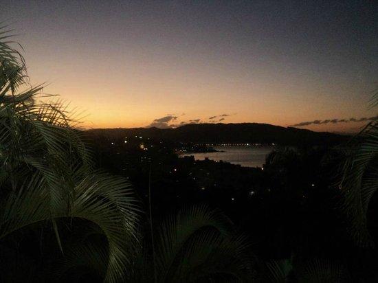 Pousada do Arvoredo : Vista desde habitacion. Nocturna.