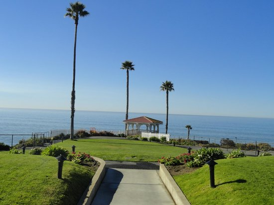 Shore Cliff Hotel: The magestic Pacific Ocean seen from the hotel's backyard.