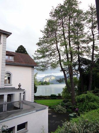 Pension Villa Maria : vista da janela do nosso quarto