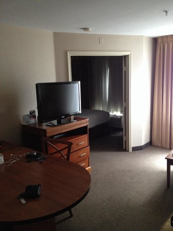 Candlewood Suites - Dallas Market Center: The separate One Bedroom suite with living room